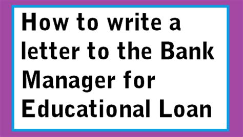 Sample letter of an application to the bank manager to